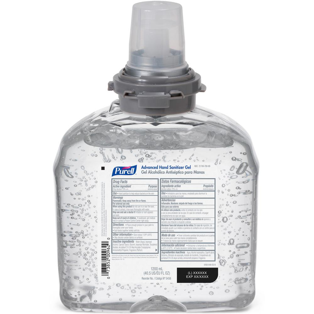 PURELL® Sanitizing Gel Refill - 40.6 fl oz (1200 mL) - Kill Germs - Hand, Skin - Clear - 1 Each. Picture 2
