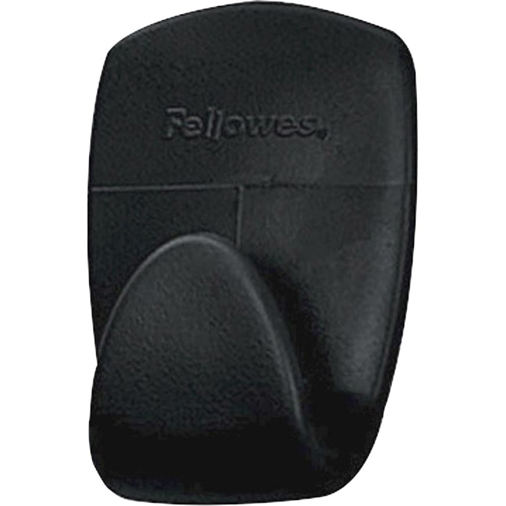 Fellowes Partition Additions™ Hook - 2 lb (907.2 g) Capacity - for Key, Headphone, Garment - Plastic - Dark Graphite - 5 / Pack. Picture 3