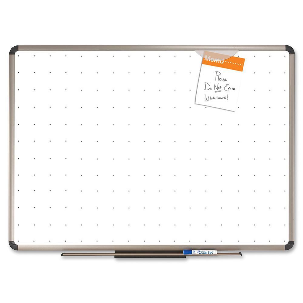 "Quartet® Prestige® Total Erase® Whiteboard - 72"" (6 ft) Width x 48"" (4 ft) Height - White Surface - Titanium Aluminum Frame - Horizontal - 1 Each. Picture 7"