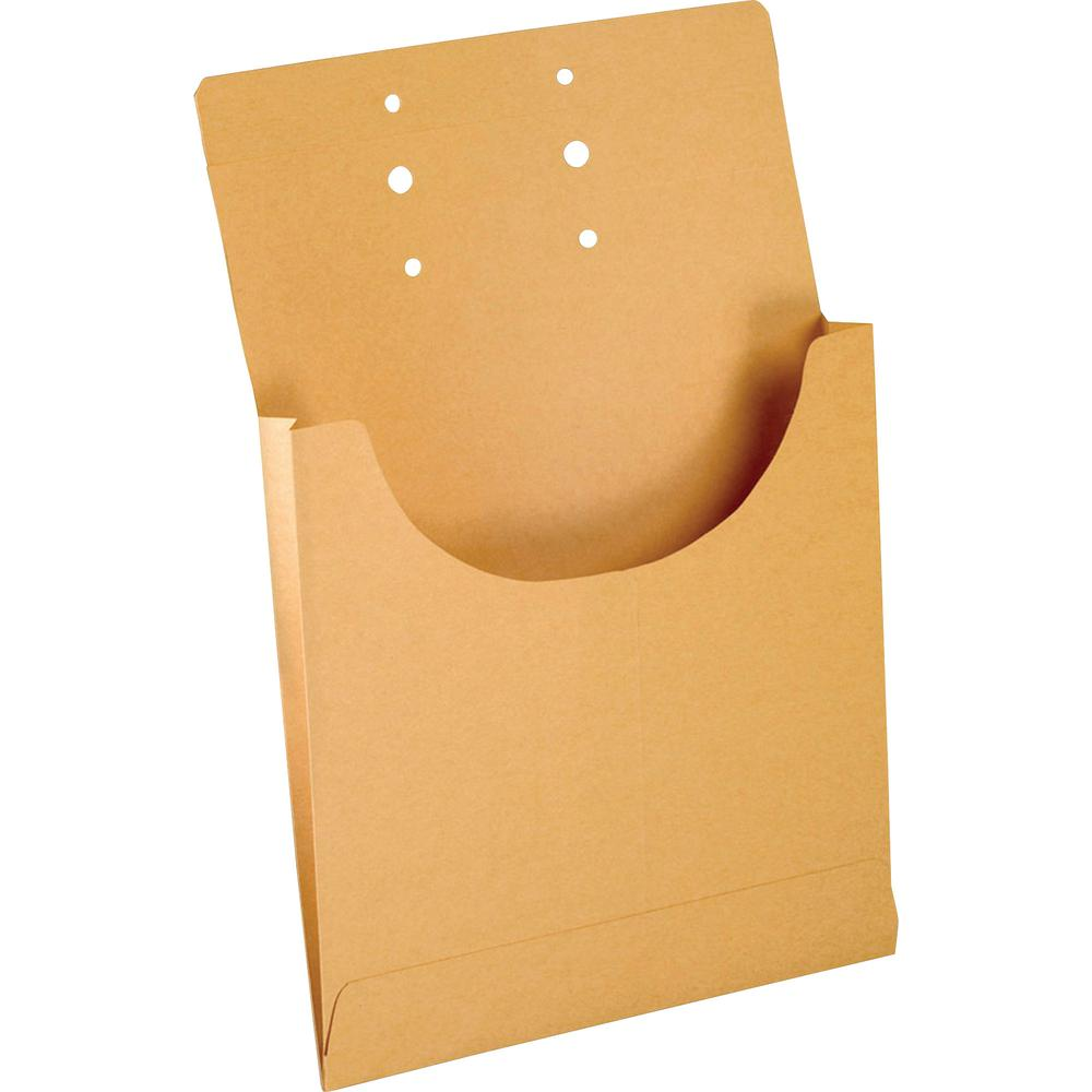 "Pendaflex Retention Jacket - Legal - 8 1/2"" x 14"" Sheet Size - 3/4"" Expansion - Kraft - Manila - 100 / Box. Picture 2"