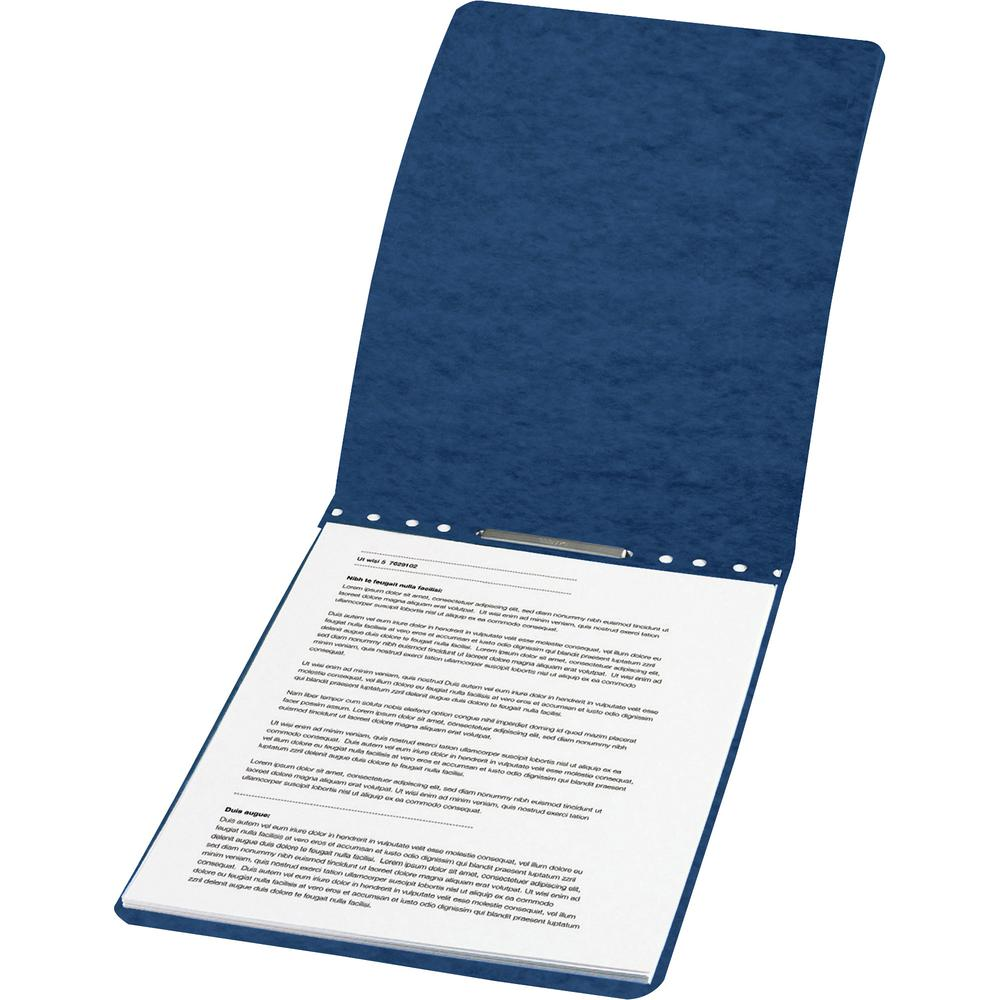 """Acco PRESSTEX Report Covers - 2"""" Folder Capacity - Letter - 8 1/2"""" x 11"""" Sheet Size - Folder - 20 pt. Folder Thickness - Tyvek, Leather - Dark Blue - Recycled - 1 / Each. Picture 2"""