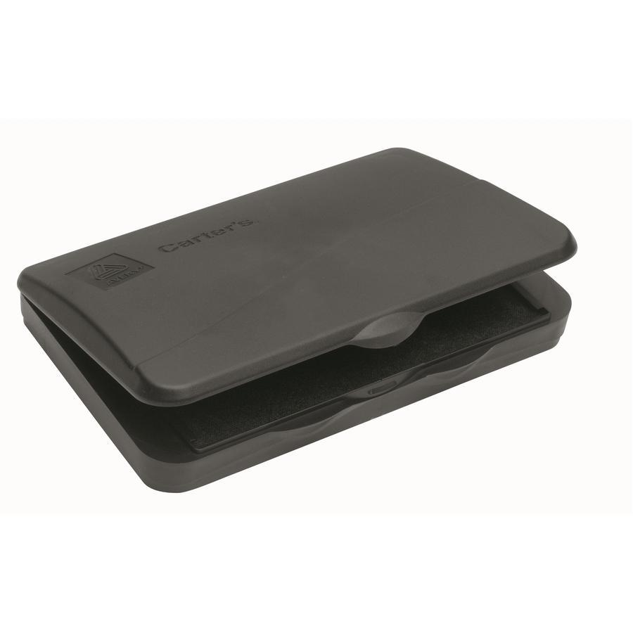 "Carter's® Reinkable Felt Stamp Pads - 1 Each - 3.3"" Width x 6.3"" Length - Felt Pad - Black Ink - Black. Picture 2"