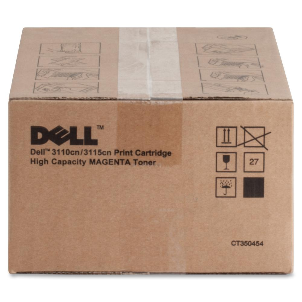 Dell Toner Cartridge - Laser - High Yield - 8000 Pages - Magenta - 1 Each. Picture 2