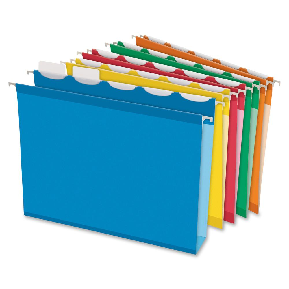"Pendaflex Ready-Tab Assorted Hanging Folders - Letter - 8 1/2"" x 11"" Sheet Size - 2"" Expansion - Ring Fastener - 2"" Fastener Capacity for Folder - Pressboard - Assorted - Recycled - 20 / Box. Picture 2"