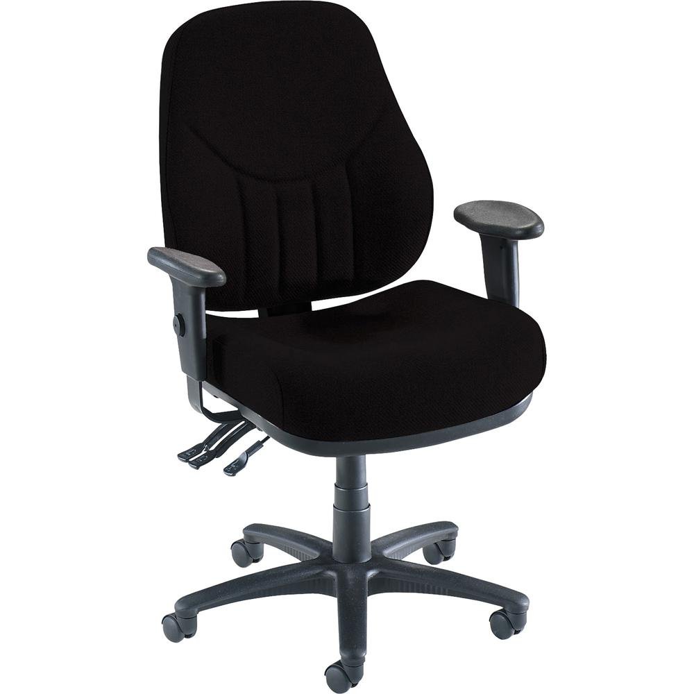 Lorell Baily High-Back Multi-Task Chair - Black Acrylic Seat - Black Frame - 1 / Each. Picture 3