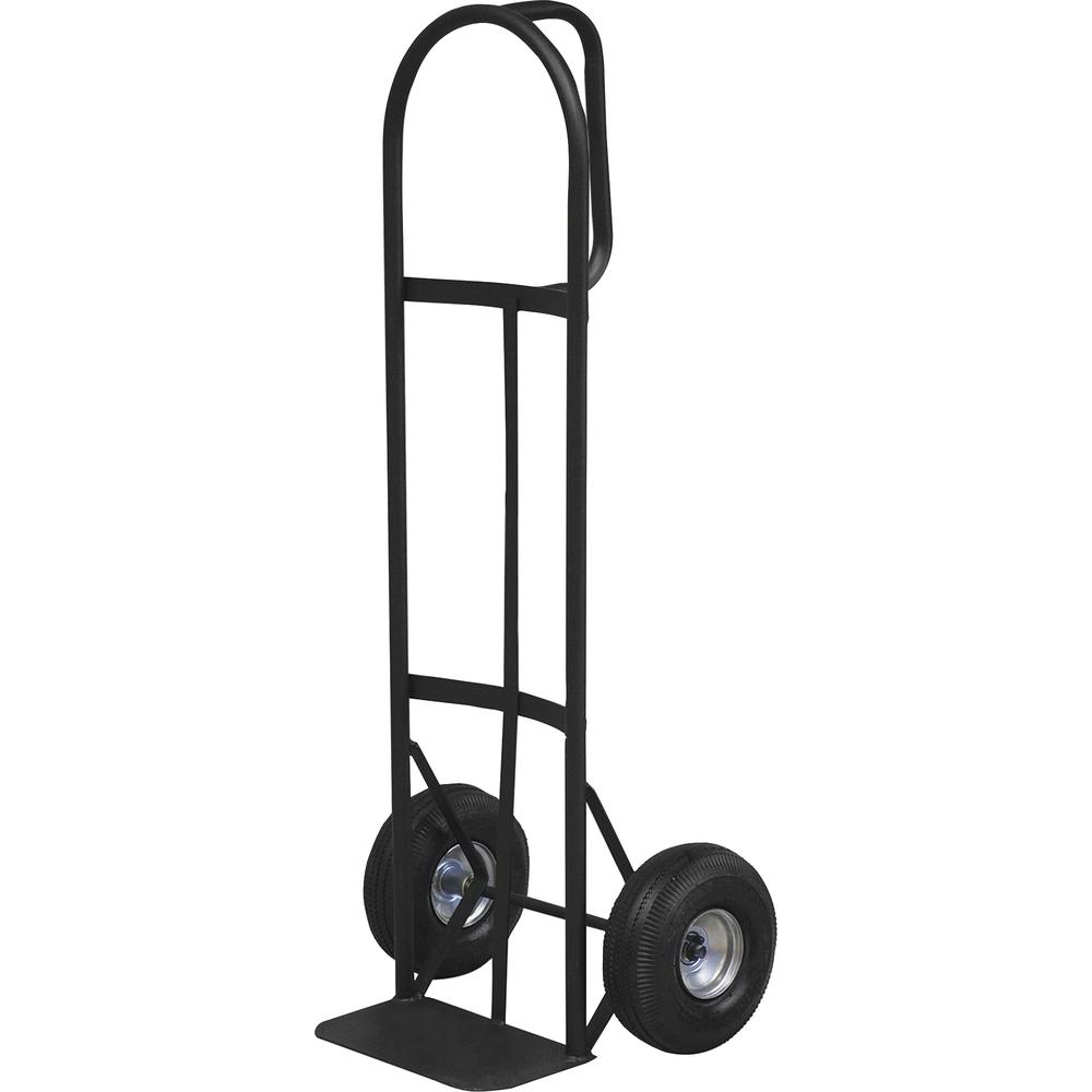 """Sparco Heavy-Duty D-Handle Hand Truck - D-shaped Handle - 800 lb Capacity - 10"""" Caster Size - x 19"""" Width x 20"""" Depth x 50"""" Height - Charcoal Gray - 1 Each. Picture 2"""