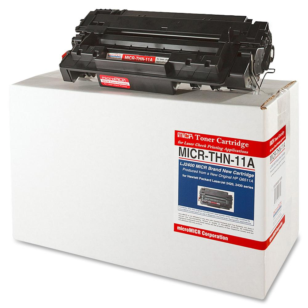 microMICR MICR Toner Cartridge - Alternative for HP 11A - Laser - 6000 Pages - Black - 1 Each. Picture 3