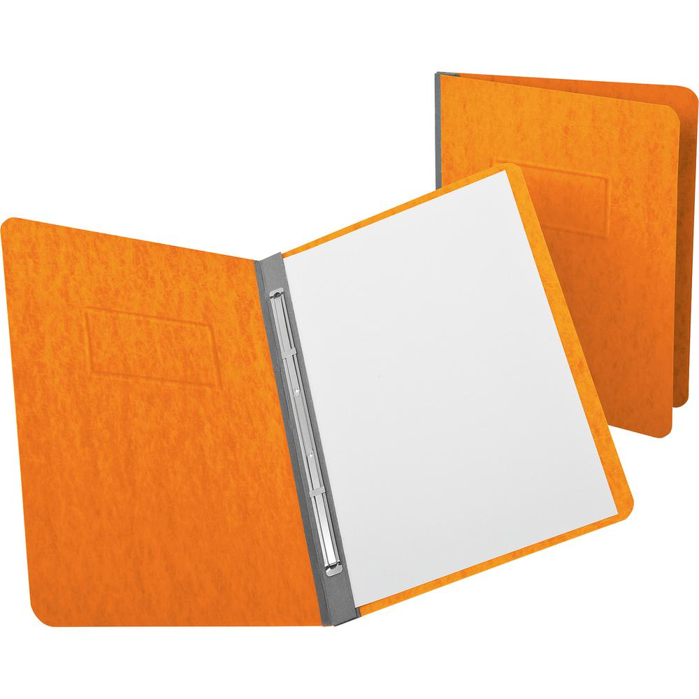 """Oxford PressGuard Reinforced Hinge Report Covers - 3"""" Folder Capacity - Letter - 8 1/2"""" x 11"""" Sheet Size - 2 Fastener(s) - 20 pt. Folder Thickness - Pressguard - Tangerine - Recycled - 1 Each. Picture 2"""