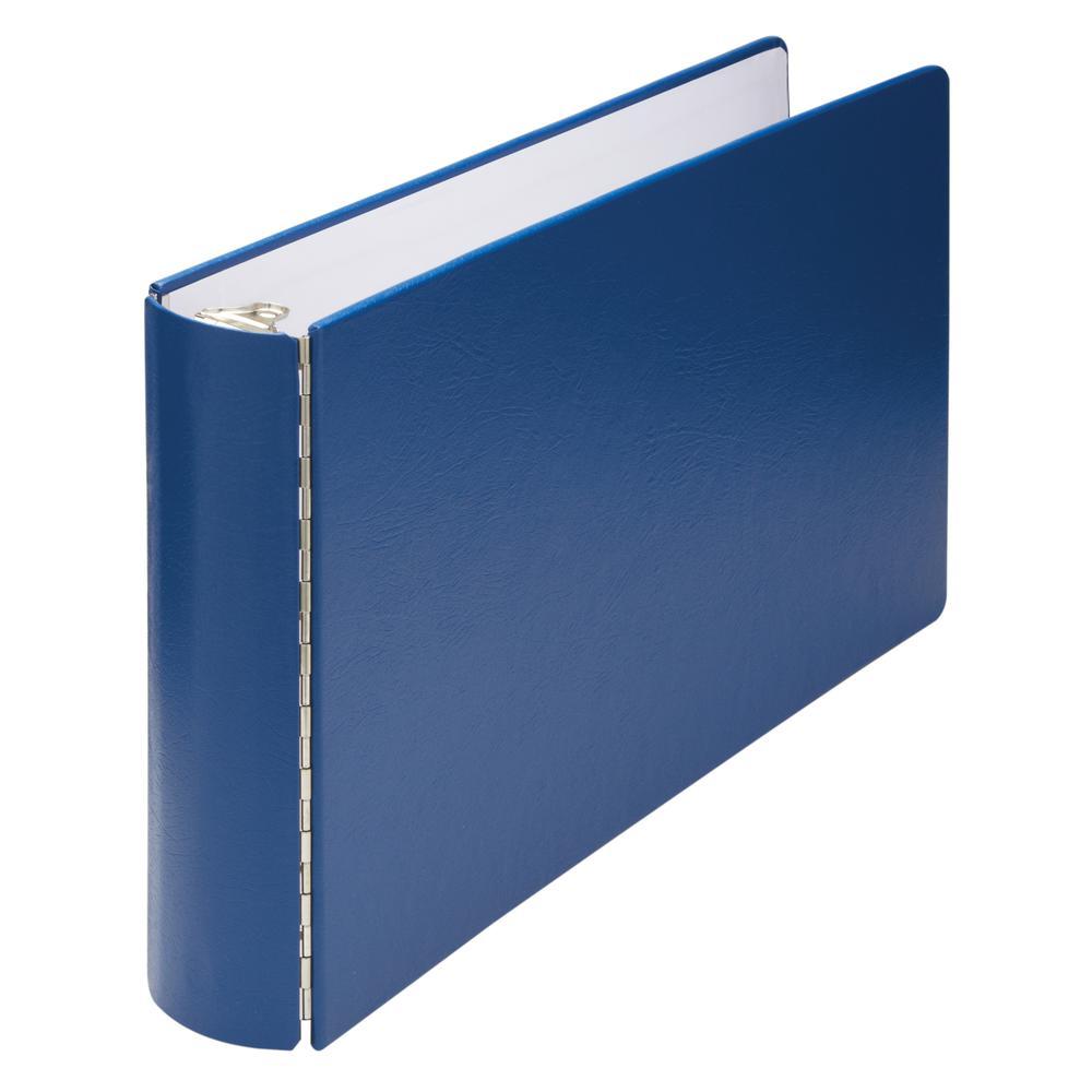 "Wilson Jones DublLock Casebound Binder - 1"" Binder Capacity - Ledger - 11"" x 17"" Sheet Size - 175 Sheet Capacity - 3 x Round Ring Fastener(s) - Vinyl-covered Chipboard - Blue - Durable, Heavyweight, O. Picture 2"