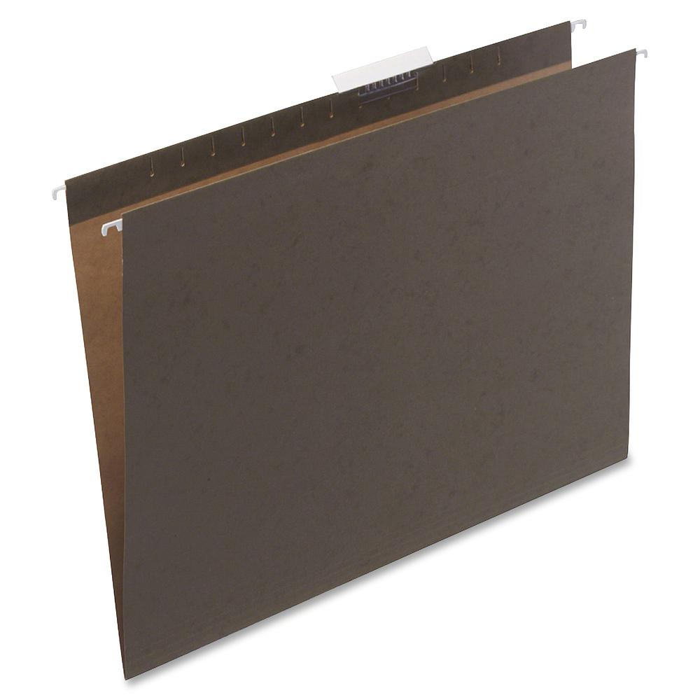 Safco Hanging File Folders - Green - 8 lb - 25 / Box. Picture 2