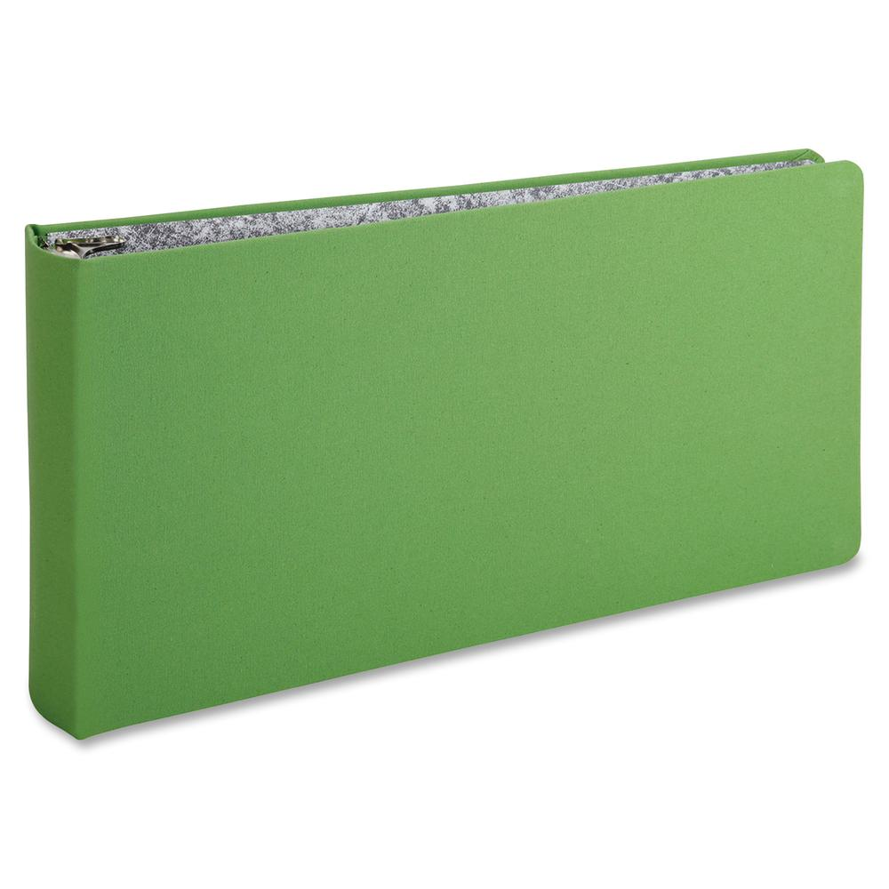 """Oxford 3-Ring Binder - 2"""" Binder Capacity - Legal - 8 1/2"""" x 14"""" Sheet Size - 3 x Round Ring Fastener(s) - Canvas - Green - Wear Resistant, Tear Resistant, Reinforced Hinge, Sheet Lifter - 1 Each. Picture 2"""