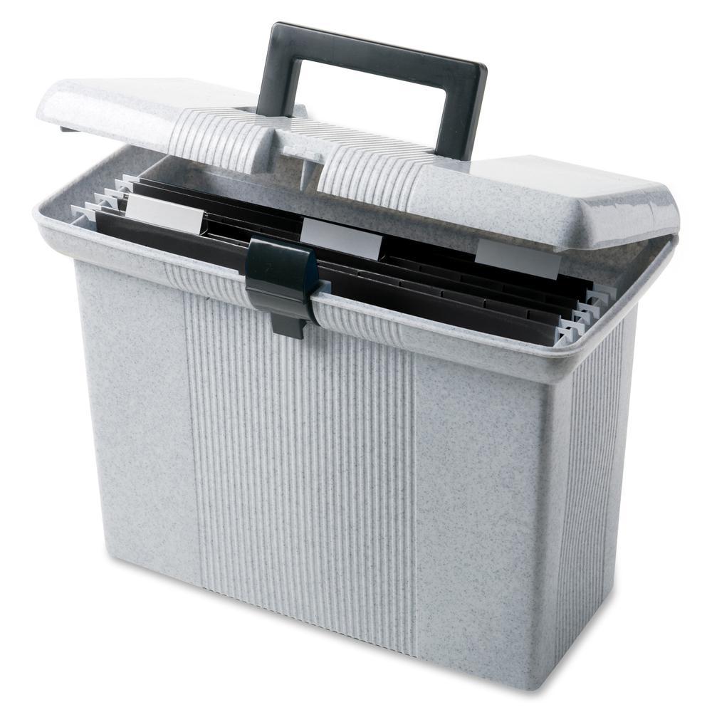 "Pendaflex Portafile File Storage Box - Internal Dimensions: 13.87"" Width x 6.37"" Depth x 10.87"" Height - External Dimensions: 14"" Width x 6.5"" Depth x 11"" Height - Media Size Supported: Letter - Light. Picture 2"