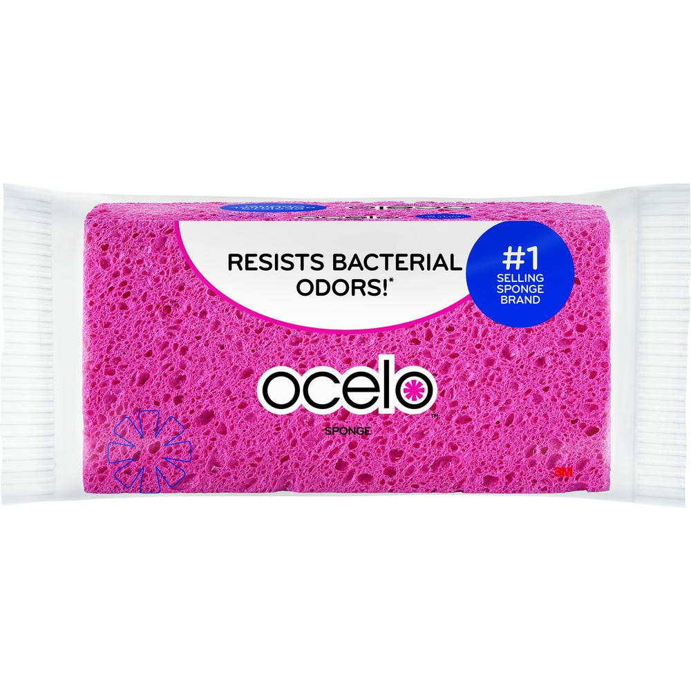 """O-Cel-O Large StayFresh Sponge - 1.6"""" Height x 7.9"""" Width x 1.5"""" Depth - 1Each - Assorted. Picture 2"""