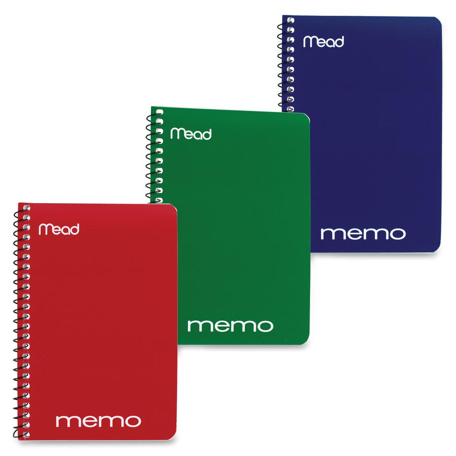 """Mead Wirebound Memo Notebook - 40 Sheets - Wire Bound - 4"""" x 6"""" - Assorted Paper - Tan Cover - Board Cover - 1 / Each. Picture 5"""