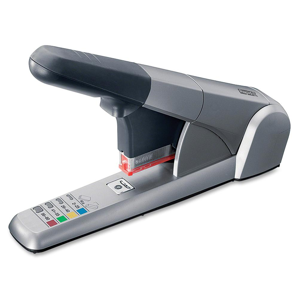 Rapid Heavy Duty Cartridge Stapler - 80 Sheets Capacity - 210 Staple Capacity - Silver. Picture 2