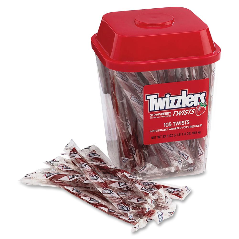 Twizzlers Hershey Co. Strawberry Candy Twists - 2.08 lb - 1 Each. Picture 2