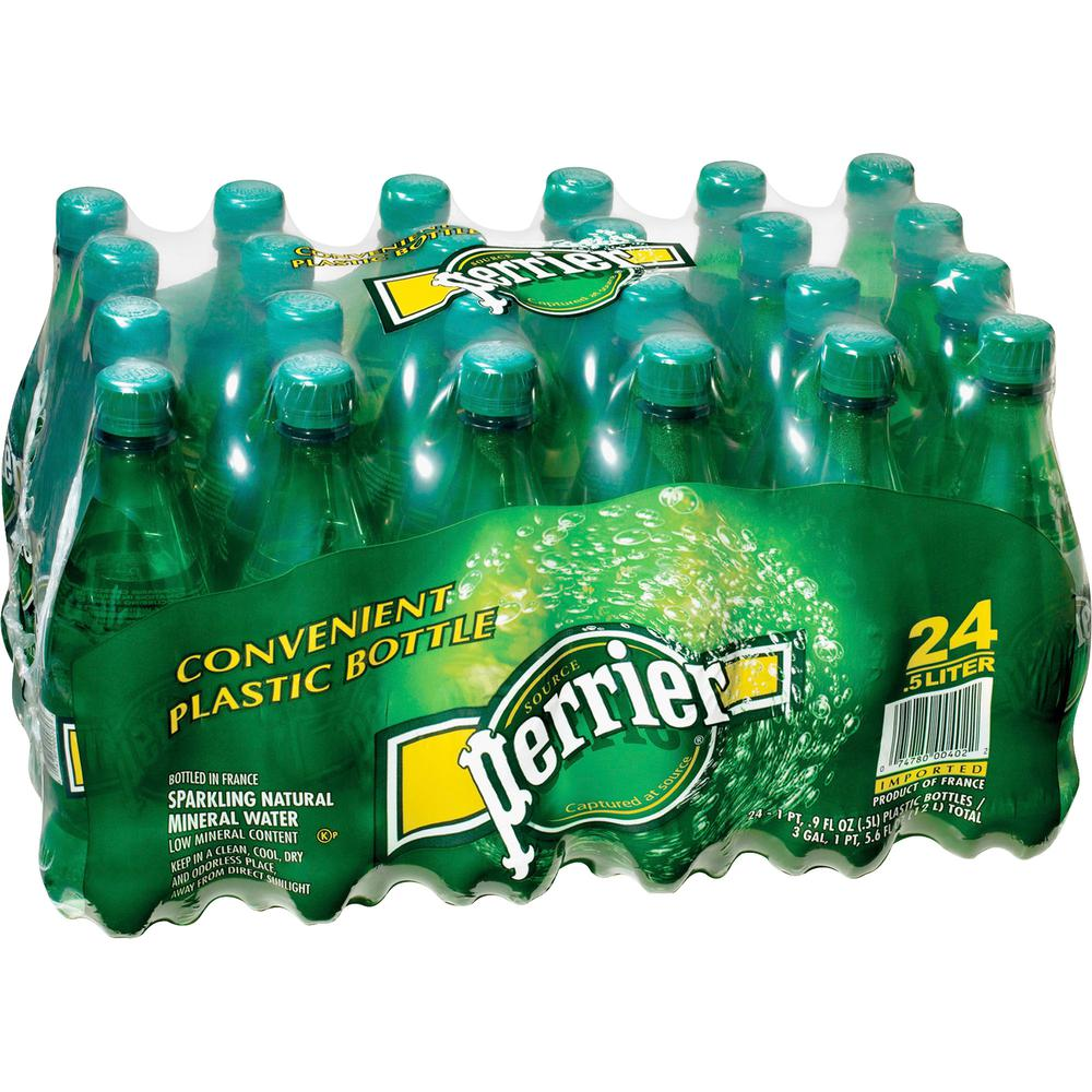 Perrier Sparkling Natural Mineral Water - 16.91 fl oz (500 mL) - Bottle - 24 / Carton