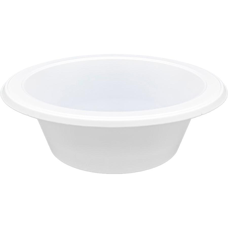 Genuine Joe Reusable Plastic Bowls - Bowl - Plastic Bowl - White - 125 Piece(s) / Pack. Picture 4