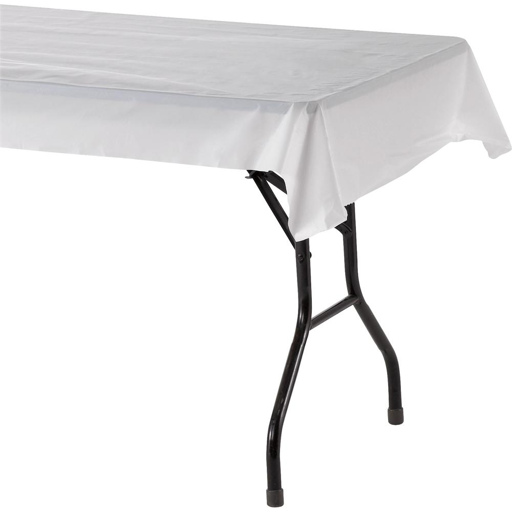 """Genuine Joe Banquet-size Plastic Tablecover - 300 ft Length x 40"""" Width - Plastic - White - 1 Roll. Picture 5"""