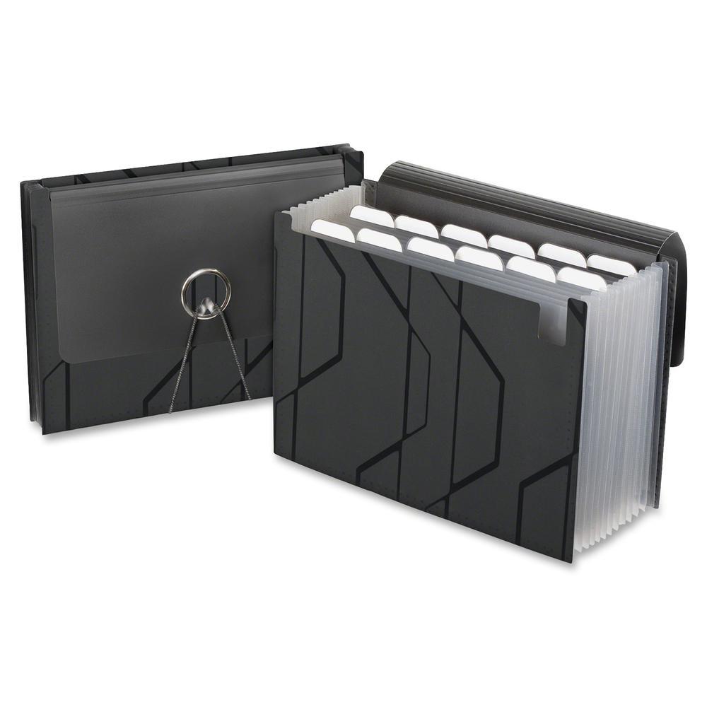Pendaflex Expanding File - 13 Pocket(s) - Poly - Black - 1 Each. Picture 4