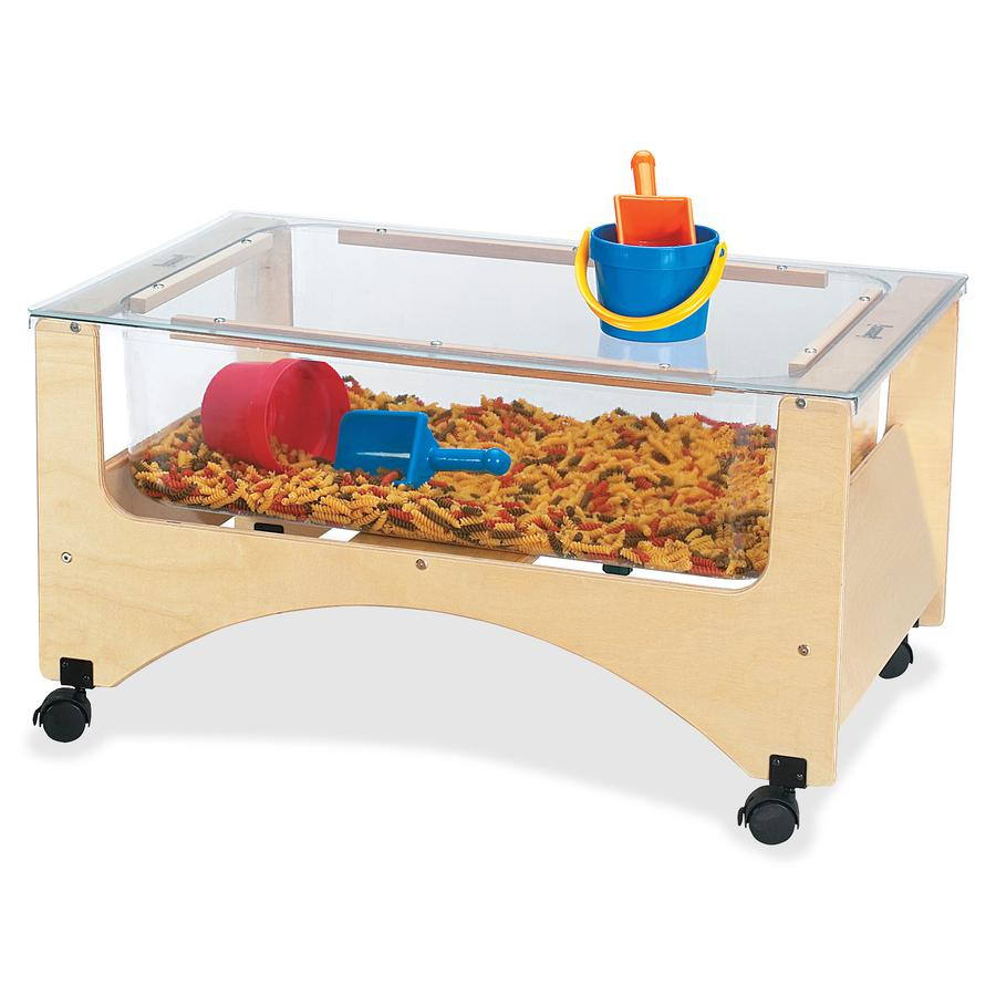 """Jonti-Craft Toddler See-thru Sensory Table - 20"""" Height x 37"""" Width x 23"""" Depth - Assembly Required - Baltic, Clear. Picture 3"""
