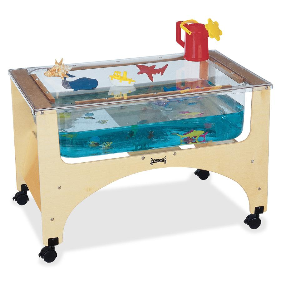 "Jonti-Craft See-Thru Sensory Play Table - 24.50"" Height x 37"" Width x 23"" Depth - Assembly Required - Baltic, Clear. Picture 2"