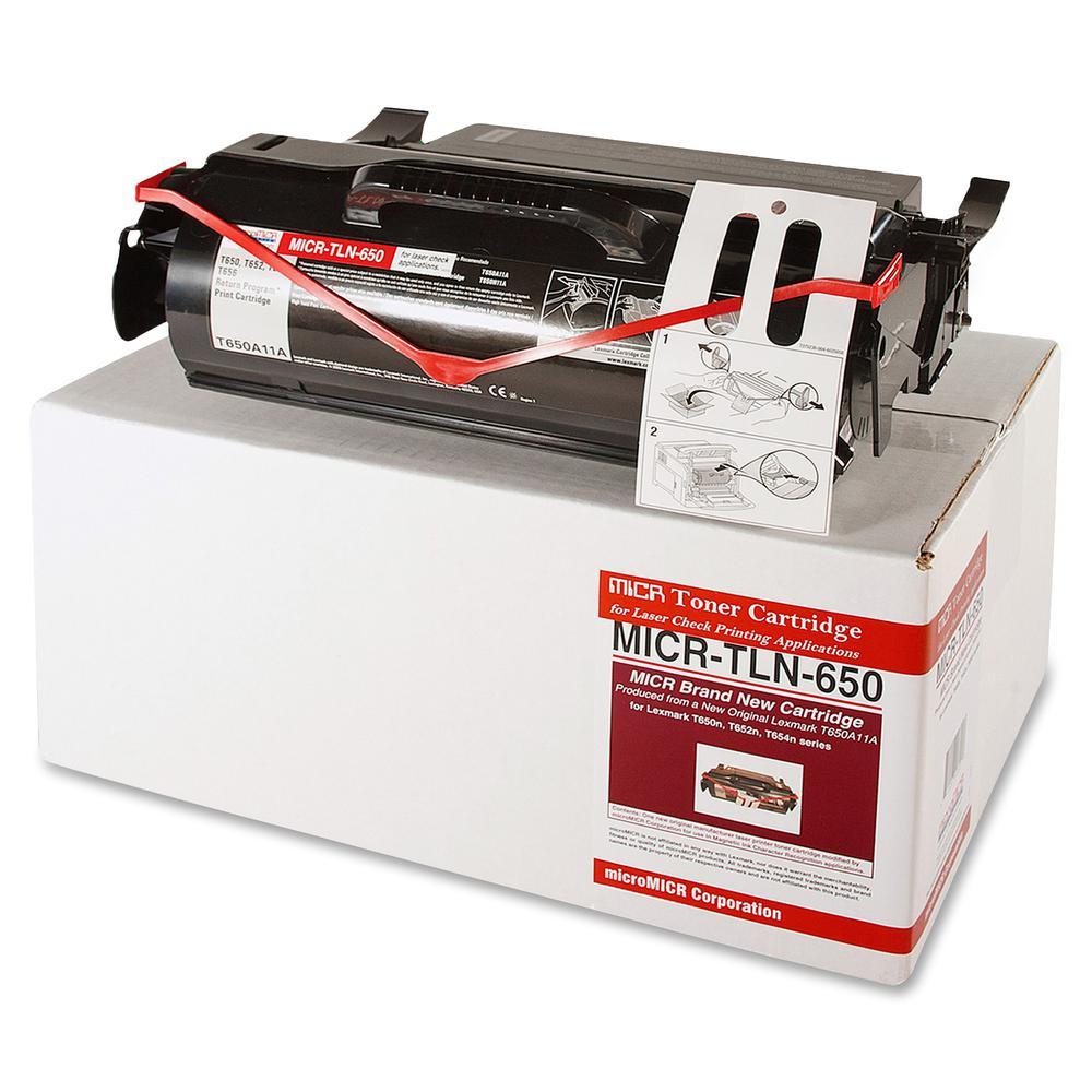 microMICR MICR Toner Cartridge - Alternative for Lexmark - Laser - 7000 Pages - Black - 1 Each. Picture 3