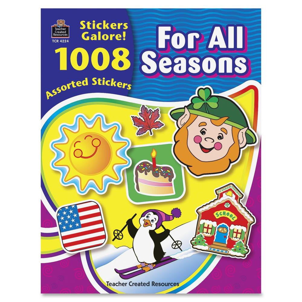 Teacher Created Resources For All Seasons Sticker Book - Self-adhesive - Acid-free, Lignin-free - Assorted - 1008 / Pack. Picture 2