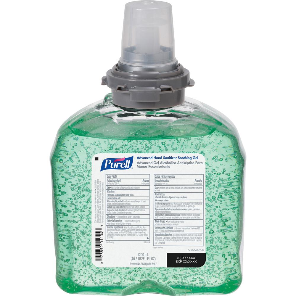 PURELL® Sanitizing Refill - 40.6 fl oz (1200 mL) - Kill Germs - Hand - Green - 1 Each. Picture 3