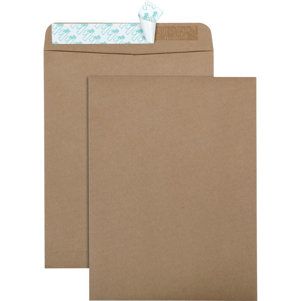 "Quality Park Redi-Strip Eco-friendly Catalog Envelope - Catalog - 10"" Width x 13"" Length - Peel & Seal - 100 / Box - Kraft. Picture 5"