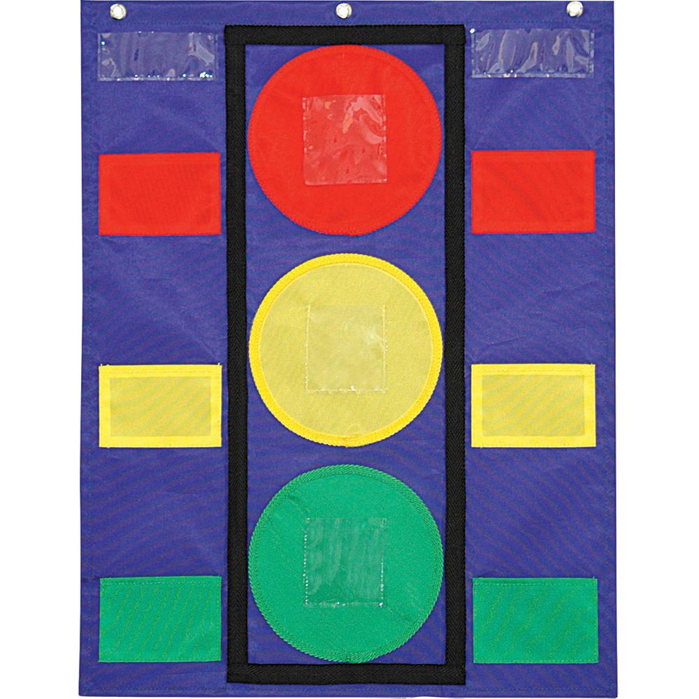 """Carson Dellosa Education Colorful Pocket Stoplight Chart - 6 Pocket(s) - 26"""" Height x 19.8"""" Width - Green, Yellow, Red - 1 Each. Picture 2"""