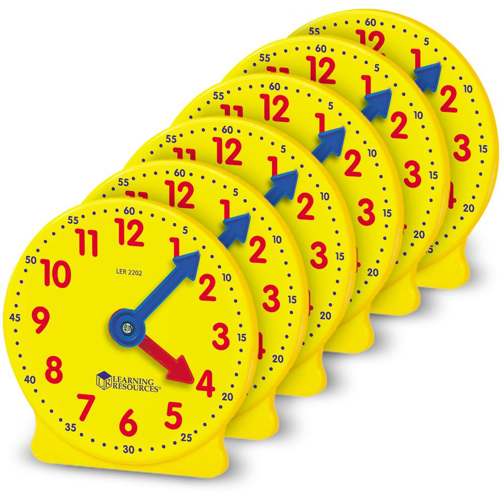 Learning Resources Pre K-4 Learning Clocks Set - Theme/Subject: Learning - Skill Learning: Time - 3-9 Year - Multi. Picture 3