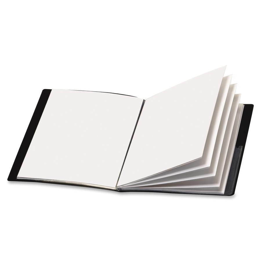 """Cardinal ShowFile Letter Presentation Book - 8 1/2"""" x 11"""" - 24 Sheet Capacity - 12 Internal Pocket(s) - Poly - Black - 1 Each. Picture 2"""