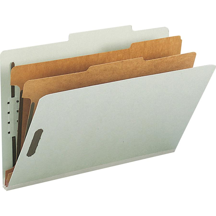 """Smead 100% Recycled Classification Folders - Legal - 8 1/2"""" x 14"""" Sheet Size - 2"""" Expansion - 2 x 2K Fastener(s) - 1"""" Fastener Capacity, 2"""" Fastener Capacity - 2/5 Tab Cut - Top Tab Location - Right o. Picture 2"""