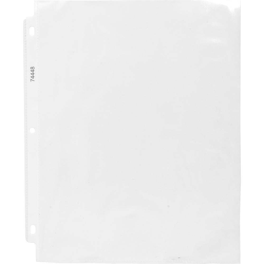 """Business Source Economy Weight Sheet Protectors - 11"""" Height x 9"""" Width - 2 mil Thickness - For Letter 8 1/2"""" x 11"""" Sheet - Ring Binder - Rectangular - Semi Clear - Polypropylene - 200 / Box. Picture 2"""
