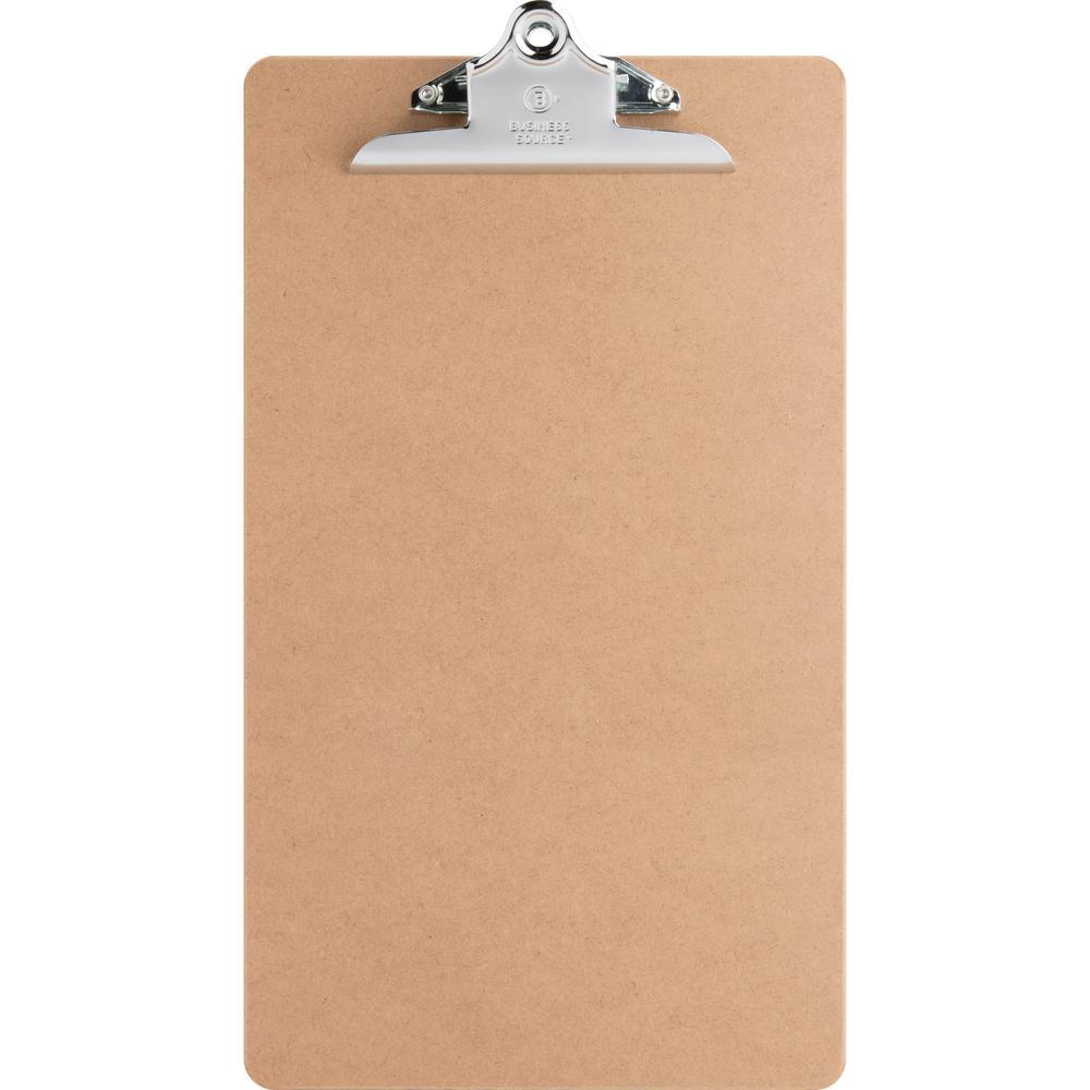 "Business Source Hardboard Clipboard - 9"" x 15 1/2"" - Hardboard - Brown - 1 Each. Picture 2"