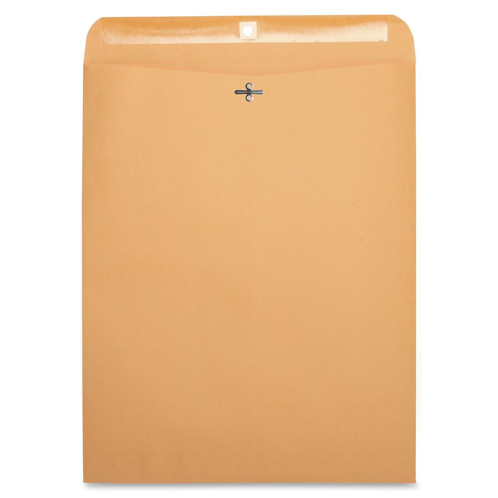 "Business Source Heavy-duty Clasp Envelopes - Clasp - #110 - 12"" Width x 15 1/2"" Length - 28 lb - Clasp - Kraft - 100 / Box - Kraft. Picture 2"