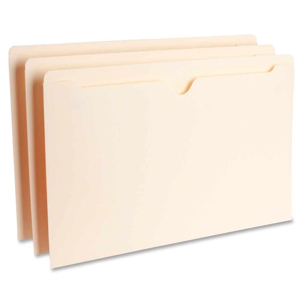 """Business Source Manila Flat File Pockets - Legal - 8 1/2"""" x 14"""" Sheet Size - 11 pt. Folder Thickness - Manila - Recycled - 100 / Box. Picture 3"""