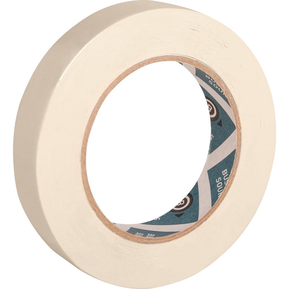 """Business Source Utility-purpose Masking Tape - 60 yd Length x 0.75"""" Width - 3"""" Core - Crepe Paper Backing - 1 Roll - Tan. Picture 4"""