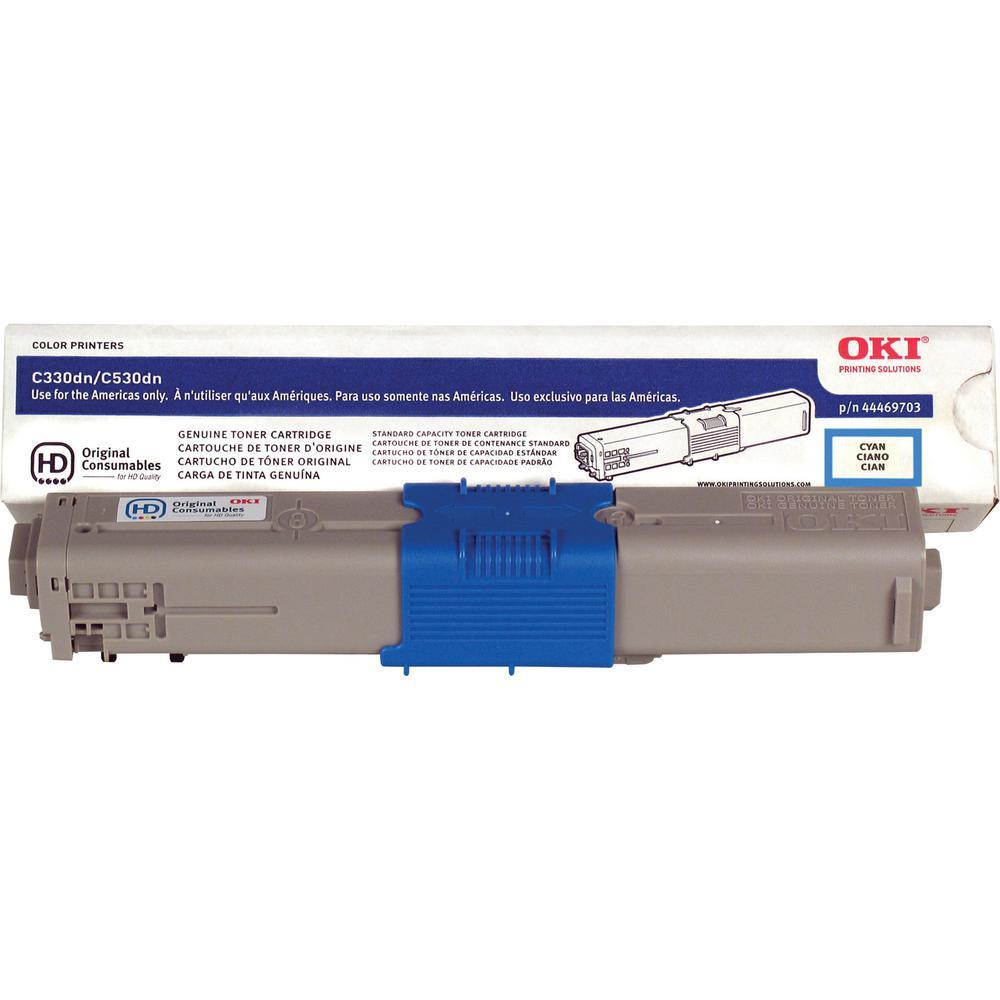 Oki Original Toner Cartridge - LED - 3000 Pages - Cyan - 1 Pack. Picture 3
