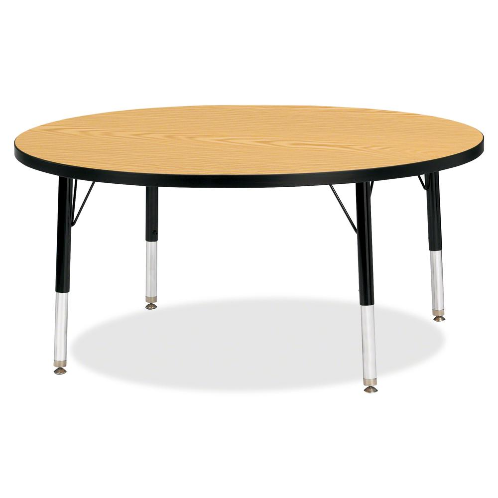 """Jonti-Craft Berries Toddler Height Color Top Round Table - Black Oak Round, Laminated Top - Four Leg Base - 4 Legs - 1.13"""" Table Top Thickness x 42"""" Table Top Diameter - 15"""" Height - Assembly Required. Picture 2"""