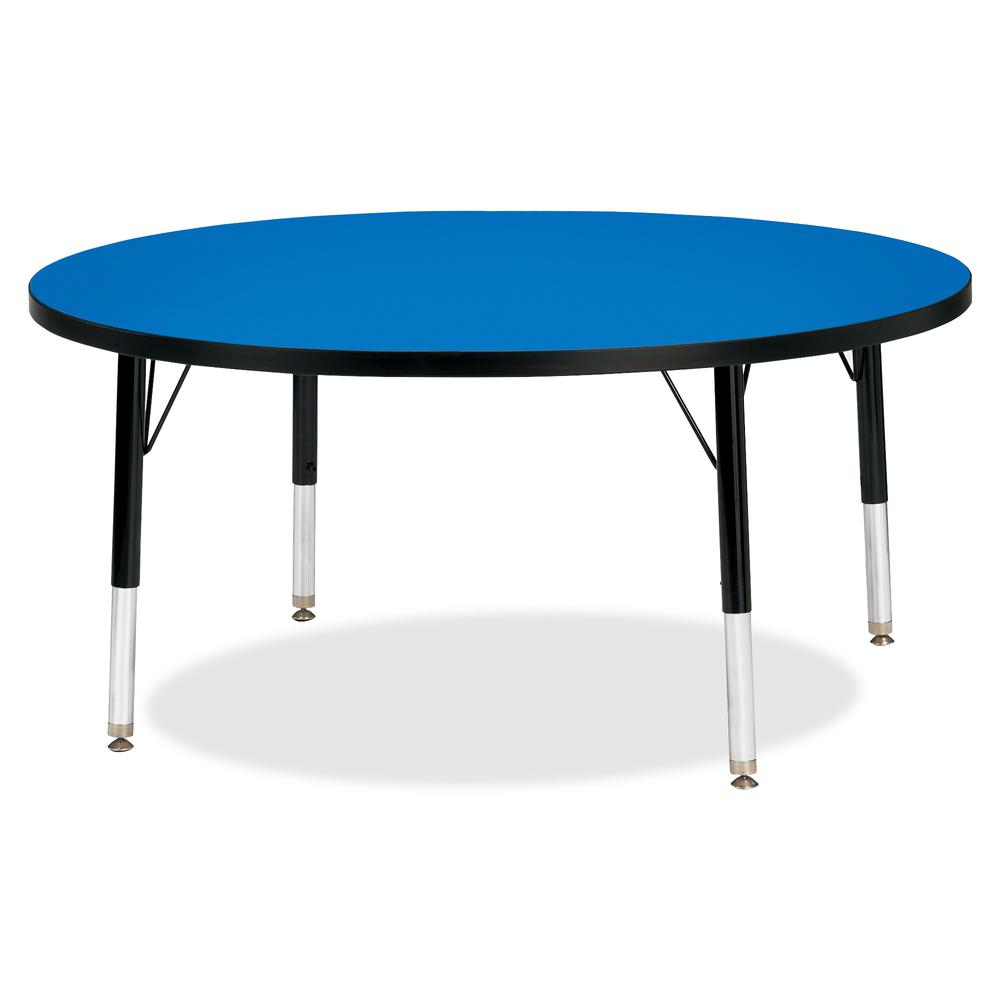 """Jonti-Craft Berries Toddler Height Color Top Round Table - Blue Round, Laminated Top - Four Leg Base - 4 Legs - 1.13"""" Table Top Thickness x 42"""" Table Top Diameter - 15"""" Height - Assembly Required - Po. Picture 2"""