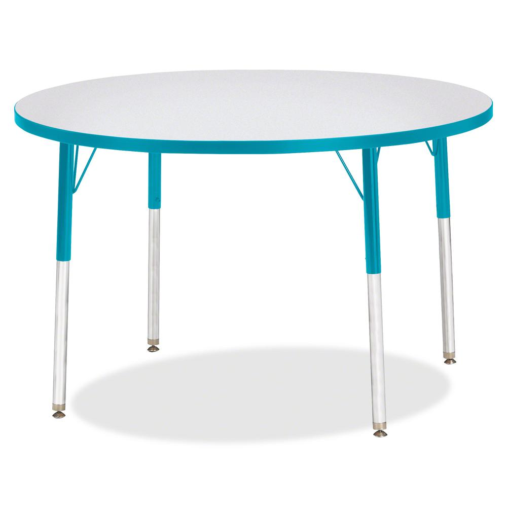 """Jonti-Craft Berries Adult Height Color Edge Round Table - Laminated Round, Teal Top - Four Leg Base - 4 Legs - 1.13"""" Table Top Thickness x 42"""" Table Top Diameter - 31"""" Height - Assembly Required - Pow. Picture 2"""