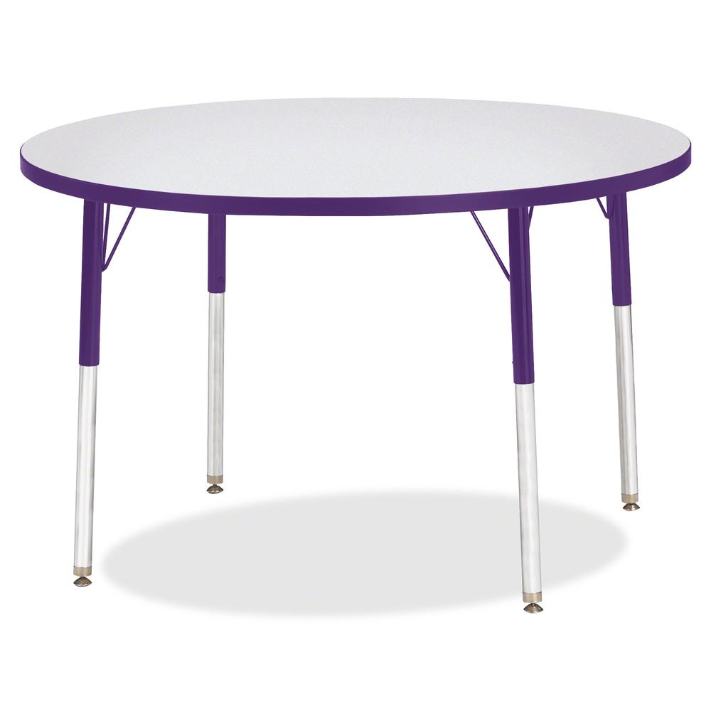 """Jonti-Craft Berries Adult Height Color Edge Round Table - Laminated Round, Purple Top - Four Leg Base - 4 Legs - 1.13"""" Table Top Thickness x 42"""" Table Top Diameter - 31"""" Height - Assembly Required - P. Picture 3"""