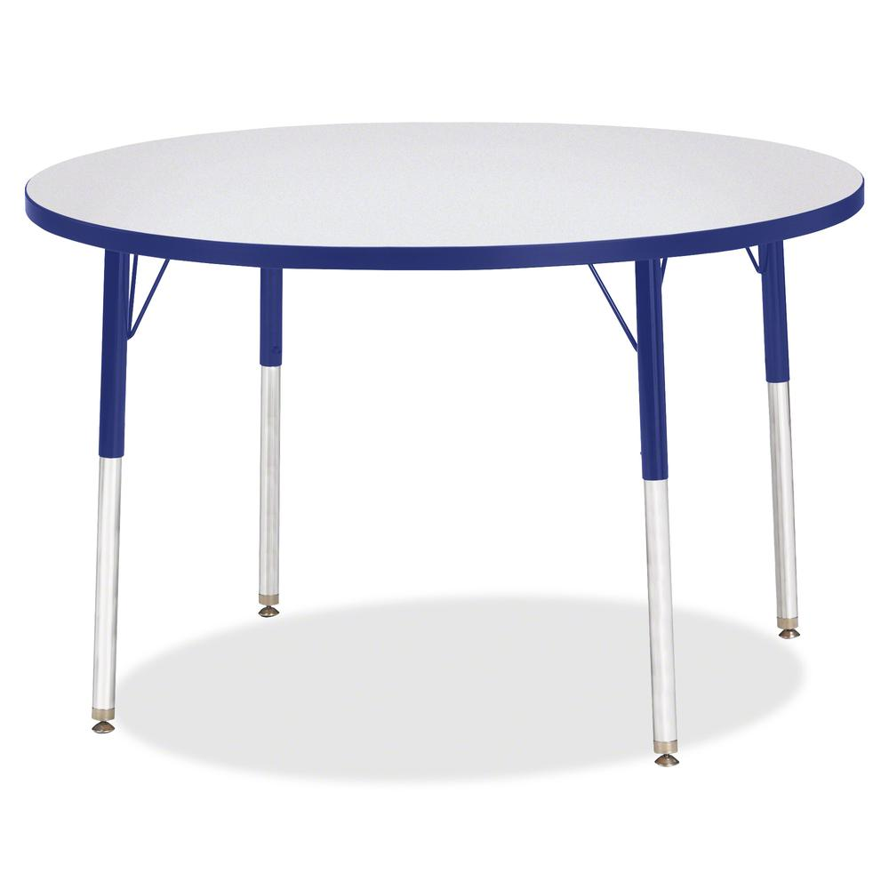 """Jonti-Craft Berries Adult Height Color Edge Round Table - Gray Round, Laminated Top - Four Leg Base - 4 Legs - 1.13"""" Table Top Thickness x 42"""" Table Top Diameter - 31"""" Height - Assembly Required - Pow. Picture 2"""