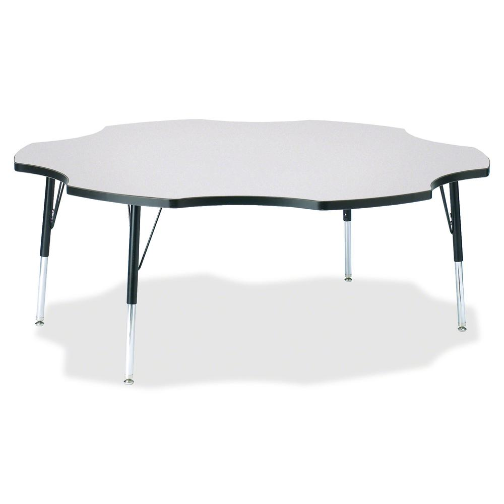 """Jonti-Craft Berries Elementary Height Prism Six-Leaf Table - Black, Laminated Top - Four Leg Base - 4 Legs - 1.13"""" Table Top Thickness x 60"""" Table Top Diameter - 24"""" Height - Assembly Required - Powde. Picture 2"""