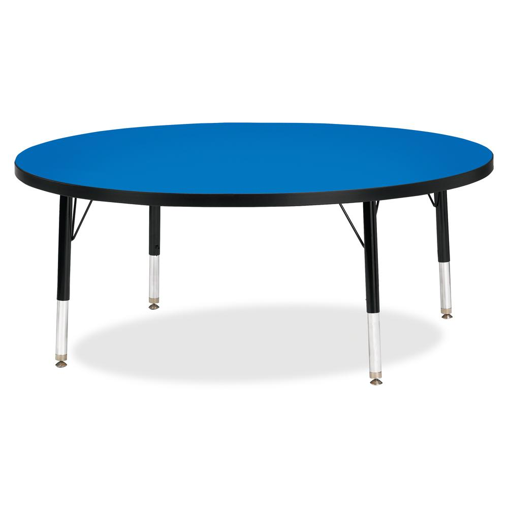 "Jonti-Craft Berries Toddler Height Color Top Round Table - Blue Round, Laminated Top - Four Leg Base - 4 Legs - 1.13"" Table Top Thickness x 48"" Table Top Diameter - 15"" Height - Assembly Required - Po. Picture 2"