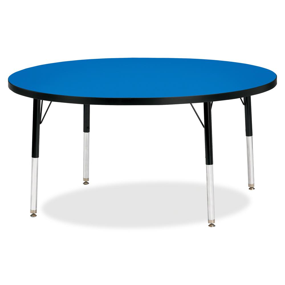 """Jonti-Craft Berries Elementary Height Color Top Round Table - Blue Round, Laminated Top - Four Leg Base - 4 Legs - 1.13"""" Table Top Thickness x 48"""" Table Top Diameter - 24"""" Height - Assembly Required -. Picture 2"""