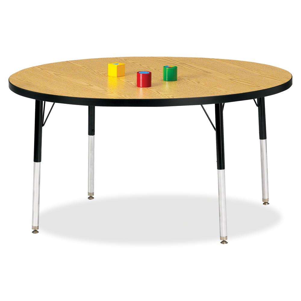 """Jonti-Craft Berries Adult Height Color Top Round Table - Black Oak Round, Laminated Top - Four Leg Base - 4 Legs - 1.13"""" Table Top Thickness x 48"""" Table Top Diameter - 31"""" Height - Assembly Required -. Picture 2"""