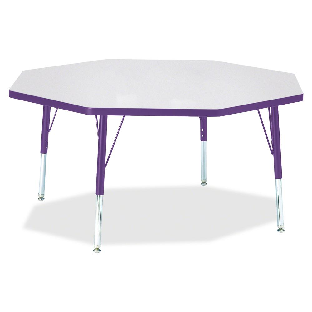 """Jonti-Craft Berries Toddler Height Color Edge Octagon Table - Laminated Octagonal, Purple Top - Four Leg Base - 4 Legs - 1.13"""" Table Top Thickness x 48"""" Table Top Diameter - 15"""" Height - Assembly Requ. Picture 2"""